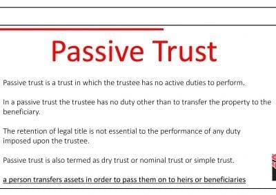 Passive trust
