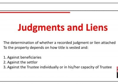Judgments and Liens